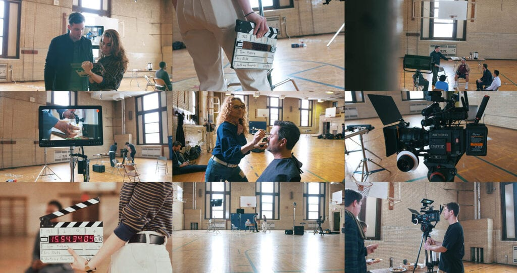 Behind the scenes shots of Cynch's commercial production.