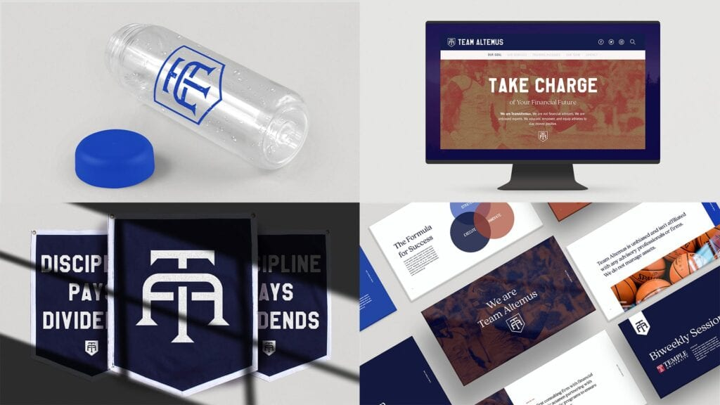Collateral used to raise brand awareness for TeamAltemus.