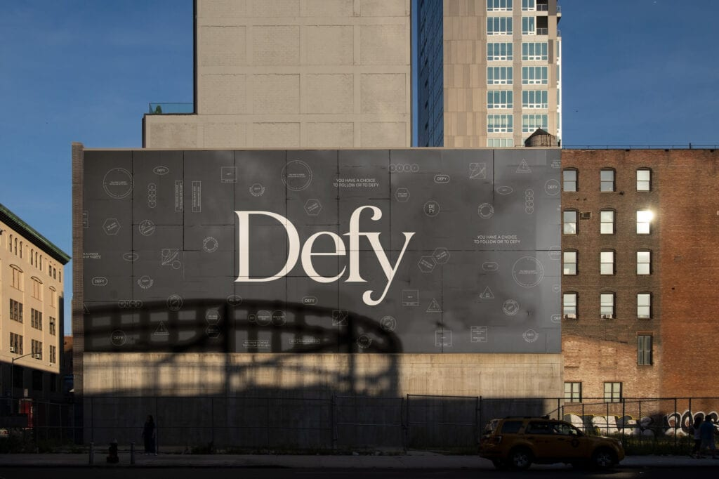 Defy marketing campaign across Philadelphia.