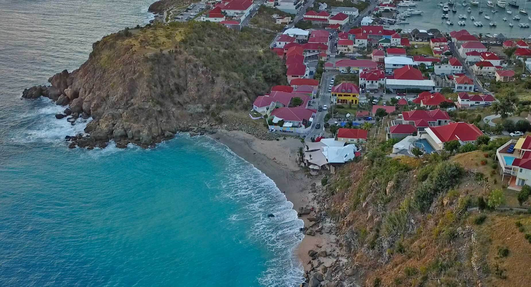 Defy St. Barths aerial photo.