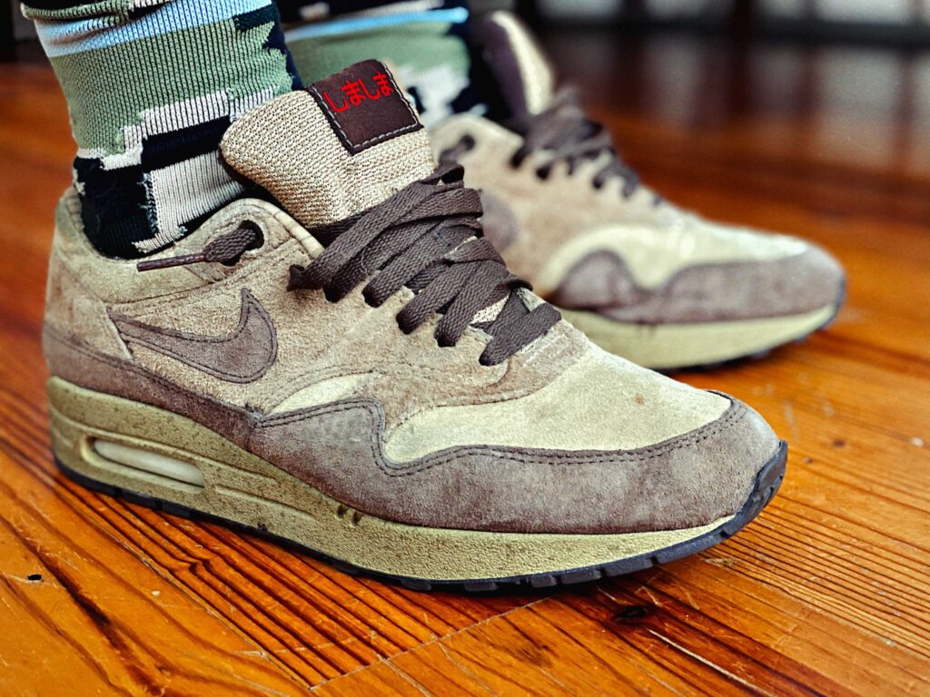 2003 Nike Air Max 1 Leather SC Shima Stussy Tan Suede
